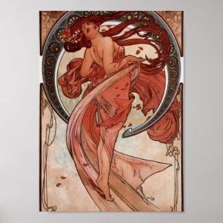 Alfons Mucha Dance Poster