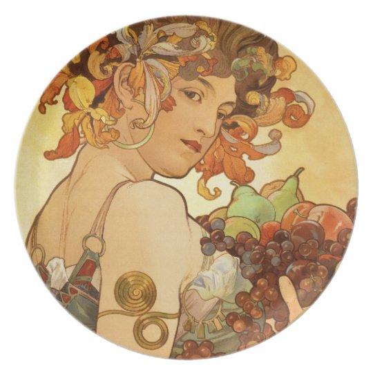 Alfons Mucha: Fruit Plate