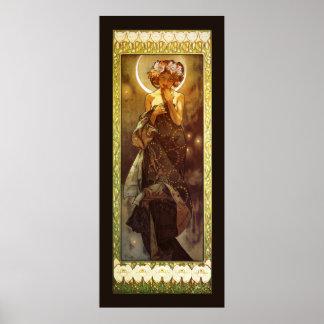 Alfons Mucha: Luna Poster