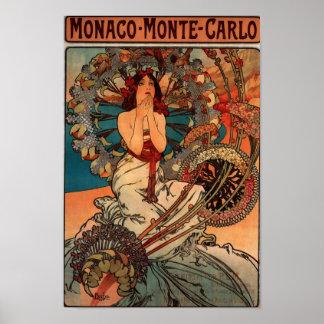 Alfons Mucha Monaco Monte Carlo Poster