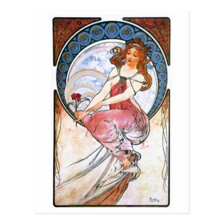 Alfons Mucha Muse of Painting Postcards