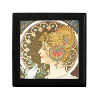 Alfons Mucha Woman in Profile Feather 1899 Gift Box