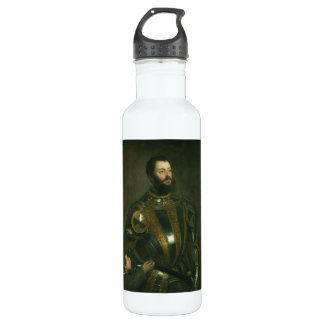 Alfonso d'Avalos Marquis of Vasto by Titian 1533 710 Ml Water Bottle