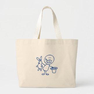Alfred Doodle Large Tote Bag