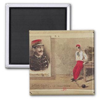 Alfred Dreyfus  as a prisoner, 1894-1906 Square Magnet