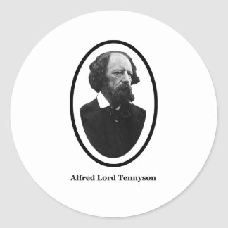 Alfred Lord Tennyson Title The MUSEUM Zazzle Gifts Round Sticker