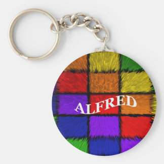 ALFRED (male names) Basic Round Button Key Ring