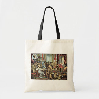 Alfred Schneider Lions In Parlour Vintage Theater Budget Tote Bag