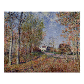 Alfred Sisley | A Corner of the Woods at Sablons Poster