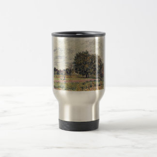 Alfred Sisley - Anfang Oktober 1882 Oil Print Stainless Steel Travel Mug