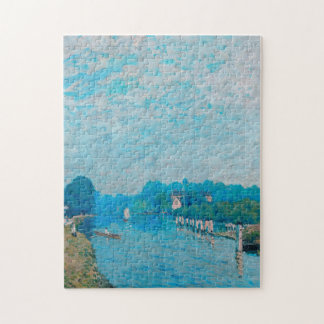 Alfred Sisley - Bords de riviere Orillas Jigsaw Puzzle