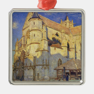 Alfred Sisley | Church at Moret, Frosty Weather Christmas Ornament