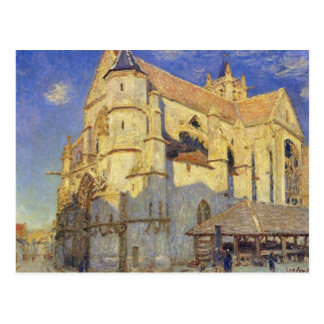Alfred Sisley | Church at Moret, Frosty Weather Postcard
