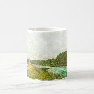 Alfred Sisley - Die Ufer der Oise 1878-1880 Basic White Mug