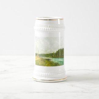 Alfred Sisley - Die Ufer der Oise 1878-1880 18 Oz Beer Stein