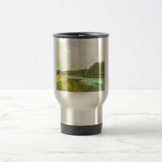 Alfred Sisley - Die Ufer der Oise 1878-1880 Stainless Steel Travel Mug