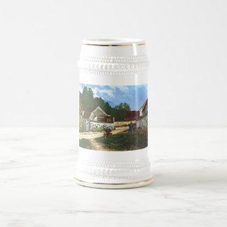 Alfred Sisley - Dorfstrasse in Marlotte 1866 Oil Beer Steins