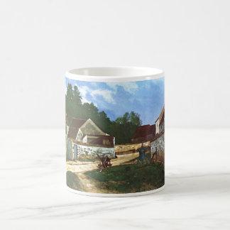 Alfred Sisley - Dorfstrasse in Marlotte 1866 Oil Basic White Mug