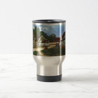 Alfred Sisley - Dorfstrasse in Marlotte 1866 Oil Stainless Steel Travel Mug