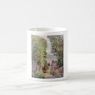 Alfred Sisley - Eine Straße in Louveciennes 1878 Basic White Mug