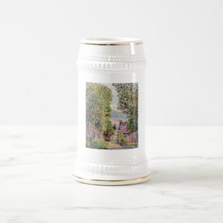 Alfred Sisley - Eine Straße in Louveciennes 1878 Beer Steins