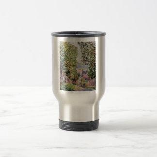 Alfred Sisley - Eine Straße in Louveciennes 1878 Stainless Steel Travel Mug