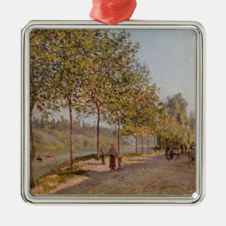 Alfred Sisley   June Morning in Saint-Mammes Silver-Colored Square Decoration