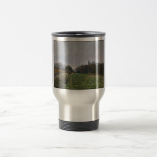 Alfred Sisley - Landscape at Louveciennes 1873 Stainless Steel Travel Mug