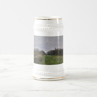 Alfred Sisley - Landscape at Louveciennes 1873 18 Oz Beer Stein