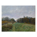 Alfred Sisley - Landscape at Louveciennes Poster