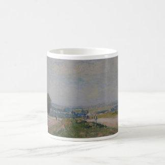 Alfred Sisley -Le Chemin de Montbuisson à Louveci Classic White Coffee Mug