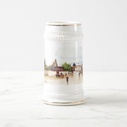 Alfred Sisley Moret am Loing im Regen 1887-1888 Coffee Mug