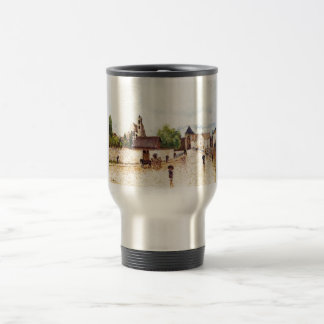 Alfred Sisley Moret am Loing im Regen 1887-1888 Stainless Steel Travel Mug