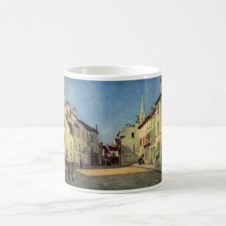 Alfred Sisley - Platz in Argenteuil 1872 Oil Print Basic White Mug