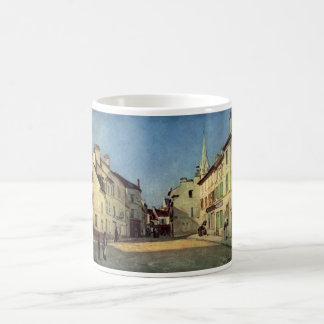Alfred Sisley - Platz in Argenteuil 1872 Oil Print Classic White Coffee Mug