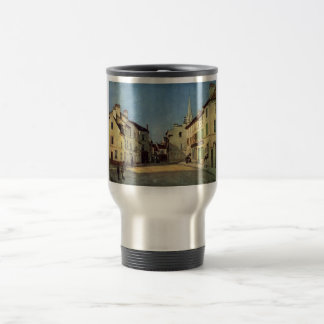 Alfred Sisley - Platz in Argenteuil 1872 Oil Print Stainless Steel Travel Mug