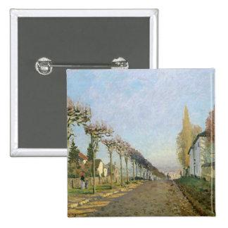 Alfred Sisley | Rue de la Machine, Louveciennes 15 Cm Square Badge