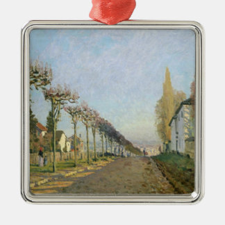 Alfred Sisley   Rue de la Machine, Louveciennes Silver-Colored Square Decoration