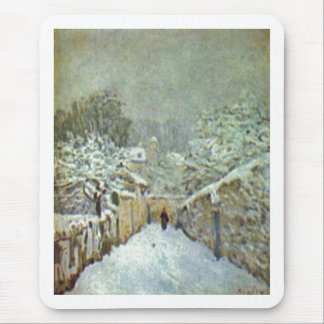 Alfred Sisley - Schnee in Louveciennes 1874 Oil Mouse Pad