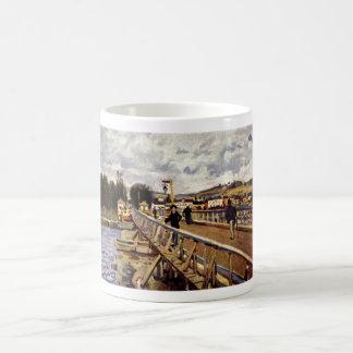 Alfred_Sisley Steg in Argenteuil 1872 Oil Bridge Basic White Mug