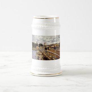 Alfred_Sisley Steg in Argenteuil 1872 Oil Bridge Beer Steins