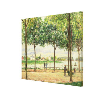 Alfred Sisley | Street of Spanish Chestnut Trees Canvas Print