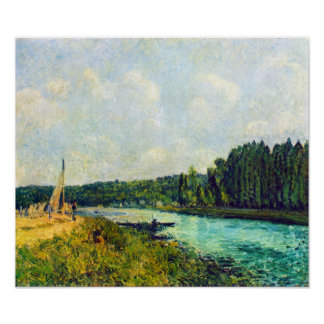 Alfred Sisley - The banks of the Oise Print