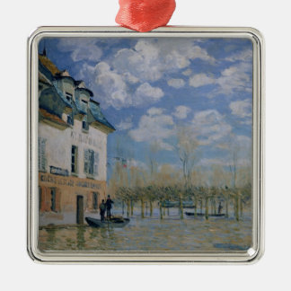 Alfred Sisley | The Boat in the Flood, Port-Marly Christmas Ornament