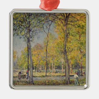 Alfred Sisley | The Bois de Boulogne Silver-Colored Square Decoration