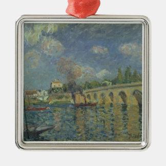 Alfred Sisley | The Bridge Silver-Colored Square Decoration
