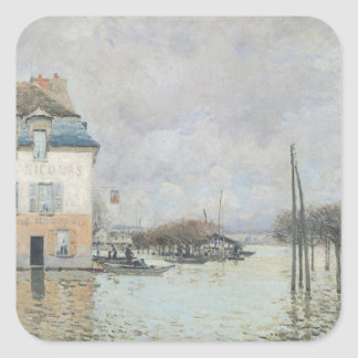 Alfred Sisley | The Flood at Port-Marly Square Sticker