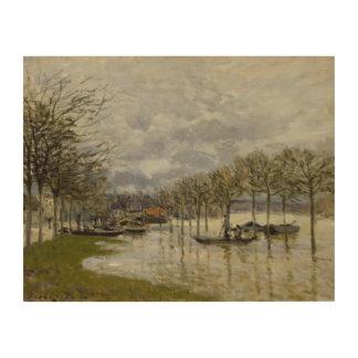 Alfred Sisley - The Flood on the Road Wood Prints