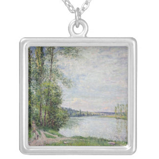 Alfred Sisley | The Riverside Road from Veneux Silver Plated Necklace