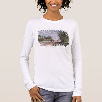 Alfred Sisley | The Road from Mantes  Long Sleeve T-Shirt